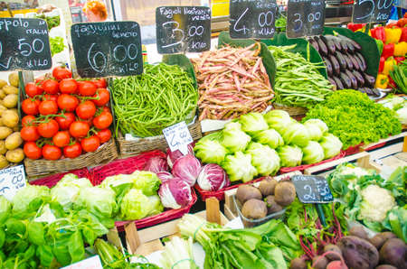 Photo for Fruits and vegetables at the market stall - Royalty Free Image