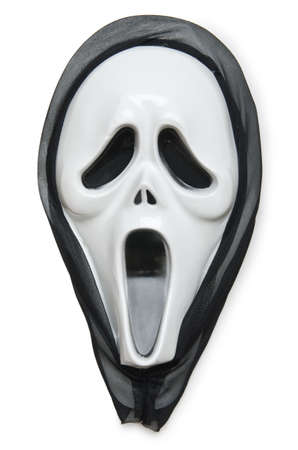 Horror mask isolated on the white