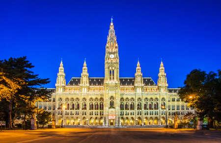 Photo pour Rathaus Mayor office in Vienna, Austria - image libre de droit