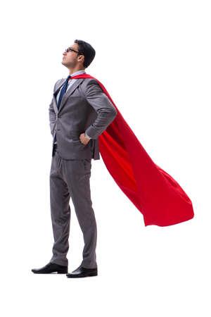 Photo for Super hero businessman isolated on white background - Royalty Free Image
