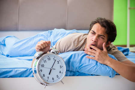Photo for Man having trouble with his sleep - Royalty Free Image