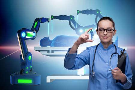 Foto de Woman doctor in telemedicine concept - Imagen libre de derechos