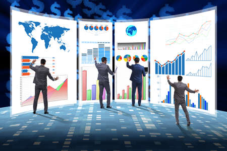 Photo pour Concept of business charts and finance visualisation - image libre de droit