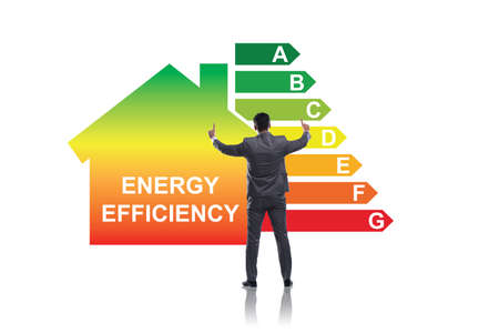 Photo for Businessman in energy efficiency concept - Royalty Free Image