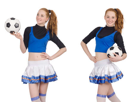 Photo pour Cheerleader isolated on the white background - image libre de droit