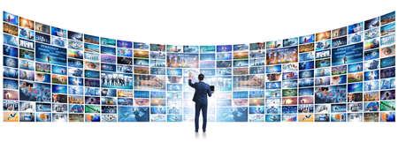 Photo pour Collage of photos with businessman - image libre de droit