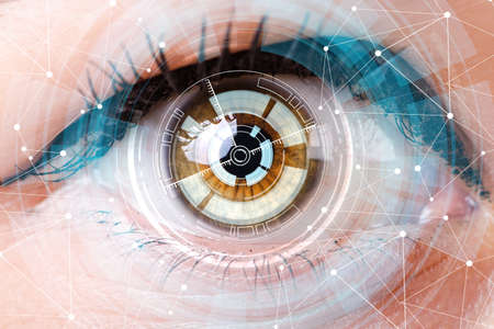 Photo for Concept of sensor implanted into human eye - Royalty Free Image