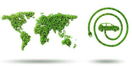 Photo pour Ecological car concept - 3d rendering - image libre de droit