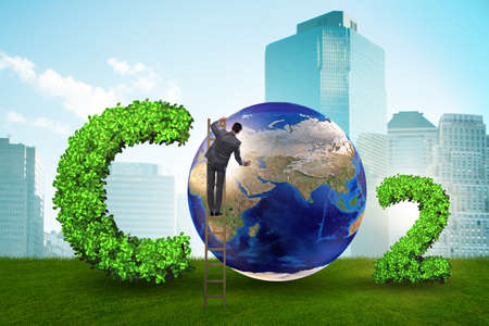 Photo for Ecological concept of greenhouse gas emissions - Royalty Free Image