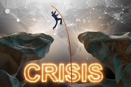Foto de Crisis concept with businessman in business concept - Imagen libre de derechos