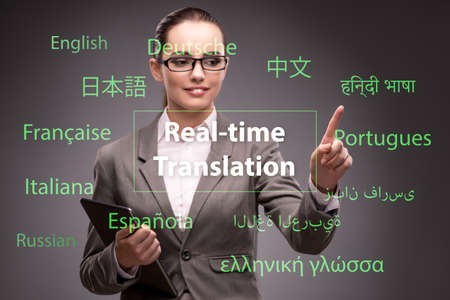 Photo for Concept of online translation from foreign language - Royalty Free Image