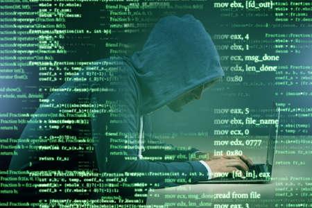 Foto de Hacker in digital security concept - Imagen libre de derechos