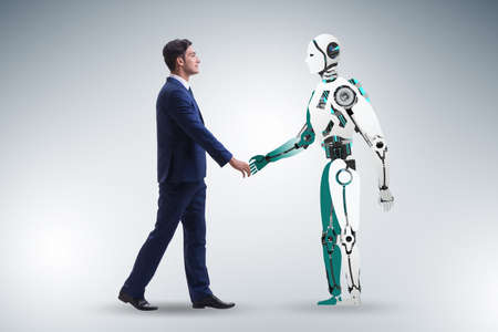 Photo for Concept of cooperation between humans and robots - Royalty Free Image