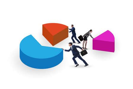 Photo pour Business analytics concept with pie chart - image libre de droit