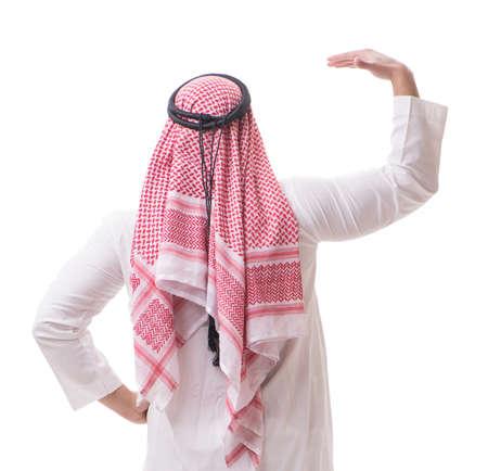 Photo pour Arab businessman isolated on white background - image libre de droit