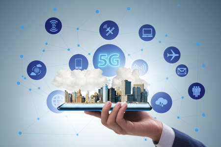 Photo for 5G technology concept - high internet speed - Royalty Free Image