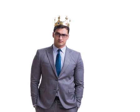 Photo for King businessman isolated on white background - Royalty Free Image