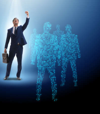 Photo for Businessman in the spotlight in business concept - Royalty Free Image