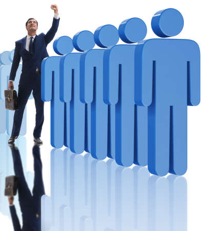 Photo for Standing out from crowd concept with businessman - Royalty Free Image