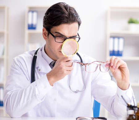 Photo for The eye doctor in medical concept - Royalty Free Image
