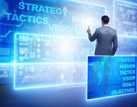 Foto de Businessman in strategic planning concept - Imagen libre de derechos