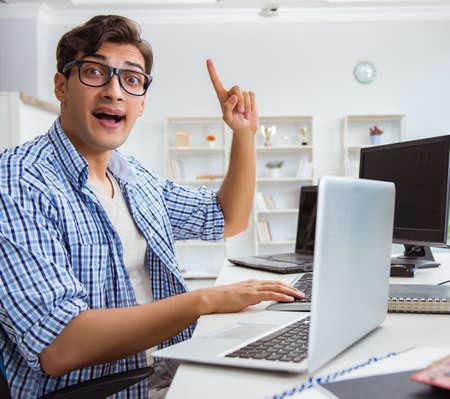 Foto de Businessman sitting in front of many screens - Imagen libre de derechos
