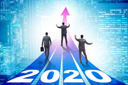 Photo pour Businessman in new year 2020 concept - image libre de droit
