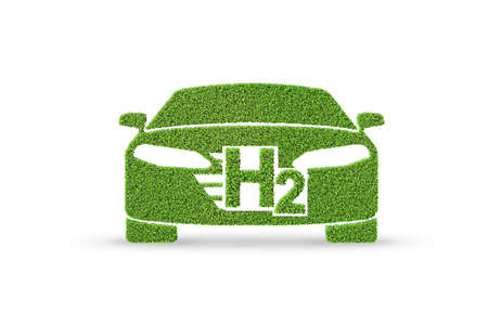 Photo for Hydrogen car concept - 3d rendering - Royalty Free Image