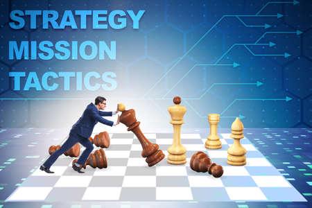 Photo pour The strategy and tactics concept with businessman - image libre de droit