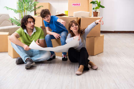 Photo for Young family moving to new flat - Royalty Free Image