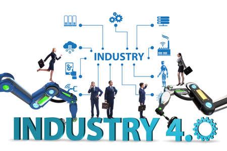Photo pour Modern industry 4.0 technical automation concept - image libre de droit