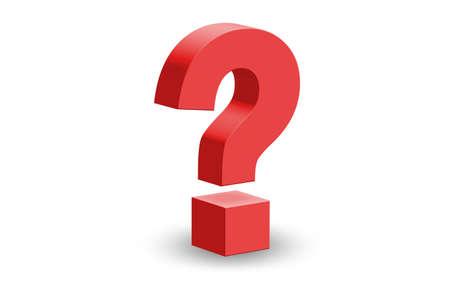 Photo pour The concept of question and uncertainty - 3d rendering - image libre de droit