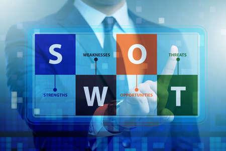Foto de SWOT technique concept for business - Imagen libre de derechos