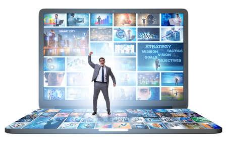 Foto de Many different images in the video streaming concept - Imagen libre de derechos