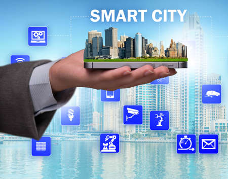 Photo pour The smart city in innovation concept - image libre de droit