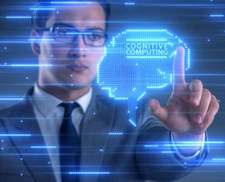 Photo pour The cognitive computing concept as modern technology - image libre de droit