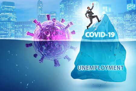 Photo for Economic crisis concept in coronavirus covid-19 - Royalty Free Image