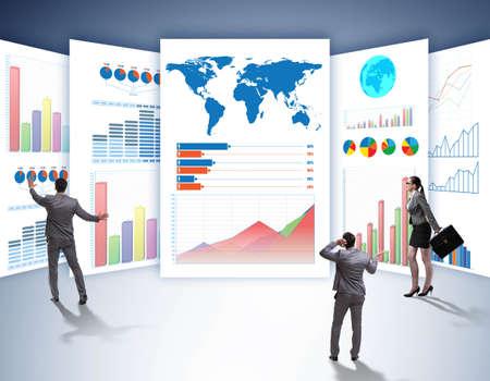 Photo pour The concept of business charts and finance visualisation - image libre de droit
