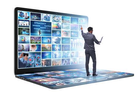 Photo pour Many different images in video streaming concept - image libre de droit