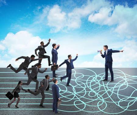 Photo pour Business people in uncertainty concept - image libre de droit