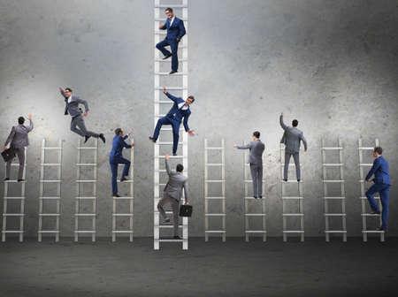 Photo pour Competition concept with businessman beating competitors - image libre de droit