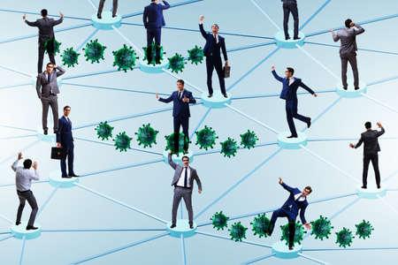 Photo pour Concept of social distancing in covid-19 pandemic world - image libre de droit