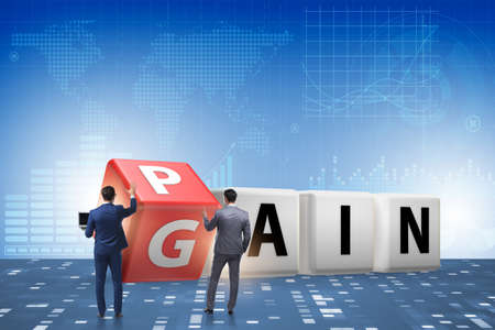 Photo pour No pain no gain concept with businessman - image libre de droit
