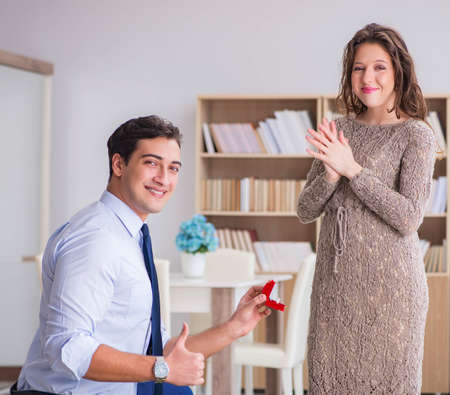 Photo for Romantic concept with man making marriage proposal - Royalty Free Image