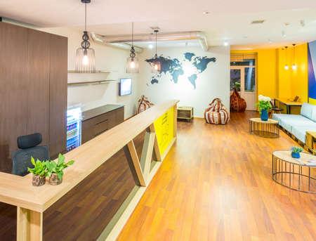Foto de The hotel reception of hostel dormitory - Imagen libre de derechos