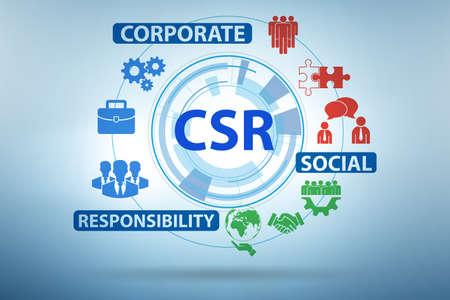 Photo pour Concept of CSR - corporate social responsibility - image libre de droit