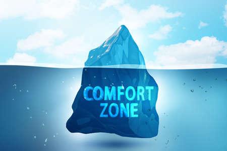 Foto de Concept of leaving zone of comfort - 3d rendering - Imagen libre de derechos