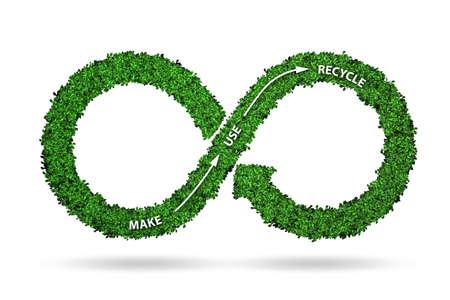 Photo pour Concept of circular economy - 3d rendering - image libre de droit