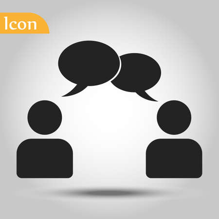 Illustration pour speaking of people, the chat icon stock vector illustration - image libre de droit