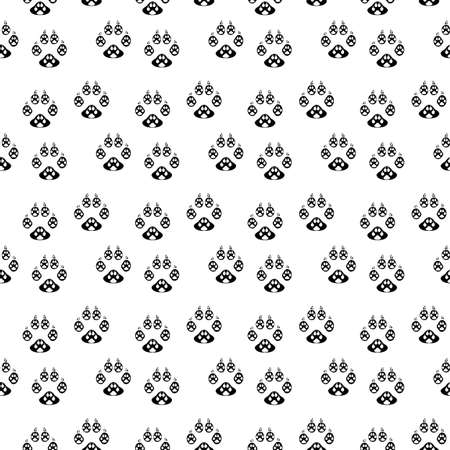 Dog paw print seamless. Traces of Cat Textile Pattern. Paw seamless pattern on white background eps 10